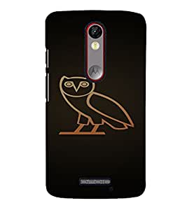 PrintVisa Owl Design 3D Hard Polycarbonate Designer Back Case Cover for Motorola Moto X Force