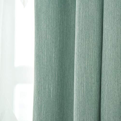 Horizontal blinds tenda tinta unita nordica,semplice moderna cotone lino tenda tessuto camera da letto soggiorno personalizzato ombreggiante ufficio americano-a 400x270cm(157x106inch)