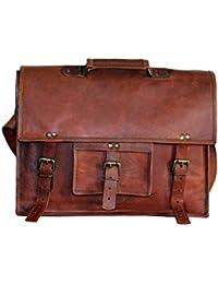 "Craftvilla - ""carcasa"" maletín portadocumentos bolso bandolera para portátiles de funda de piel con tapa para portátil (38,1 cm) bolso bandolera de cruzado"