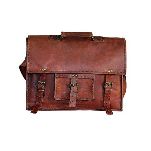 Craftvilla Grunge Sacoche pour ordinateur portable en cuir sac à bandoulière croisée 15\