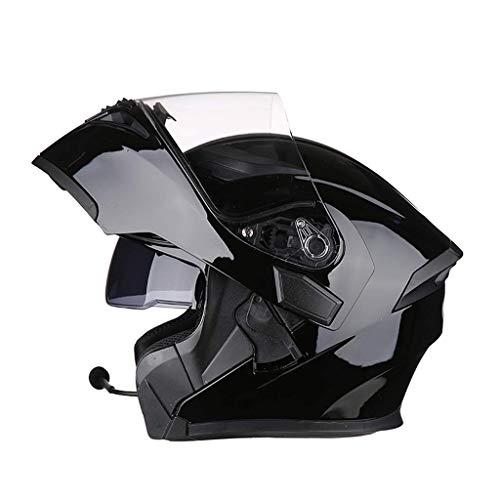 YINUO-Helm Anti-Fog Doppelobjektiv Jethelm Elektro Motorrad Bluetooth Helm Motorradhelm Bringen Bluetooth (Color : 6)