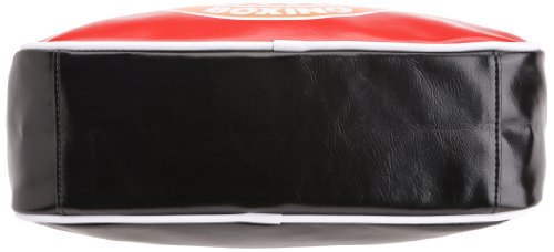 Gola Classics Redford Boxing Badge, Damen Umhängetasche Rosso Scuro - Nero - Arancione
