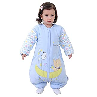 Naduew Saco de Dormir para bebé Saco de Dormir de algodón para recién Nacido con Patas de Invierno Saco de Dormir de Invierno de Manga Larga