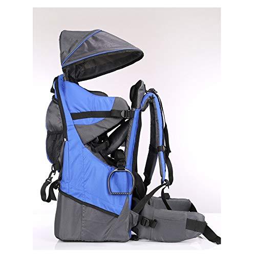 Babytrage Kinder Rücken Rahmen Outdoor Klettern Zurück Hocken Zurück Stuhl Babytragetuch Baby Umarmung Tasche Taille Hocker Rücken Tasche Gurt (Color : Modern blue)