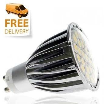 Ampoule GU10 LED SMD, 360 lumens, Equiv. 60 Watt, 24 x 5050 SMD, Blanc Chaud Variateur