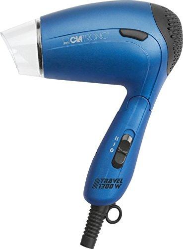 Reise-Haartrockner mit Diffuser und Formdüse Fön Haarfön Haar Föhn Haarföhn Harfön (Sportfön, Griff klappbar, Sparsame 1300 Watt, Blau)