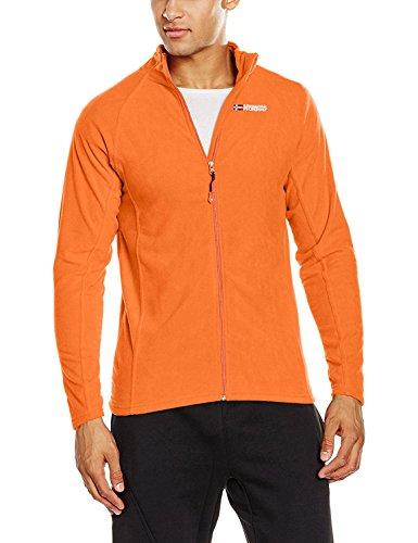 Geographical Norway Herren Fleece Outdoor Westen, Torpille Full Zip Men , Gr. S (Herstellergröße: S), Orange (Orange) Micropolar-fleece