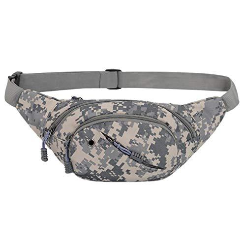 CaseJCNKF Canvas Male Gürteltasche Portable Camo Männer Hüfttaschen Camouflage Crossbody Brusttasche Reise Freizeit Pack Grey