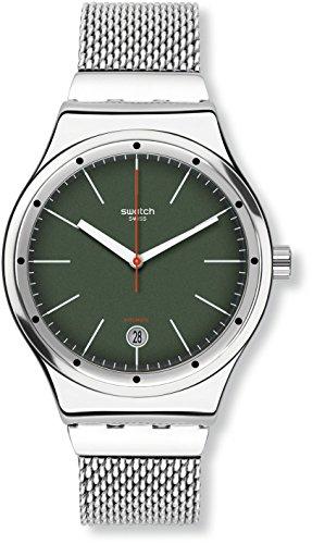 Swatch Orologio Digitale Automatico Uomo con Cinturino in Acciaio Inox...