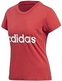 adidas ESS LI SLI tee Camiseta, Mujer, (Rojo/Blanco), 2XS