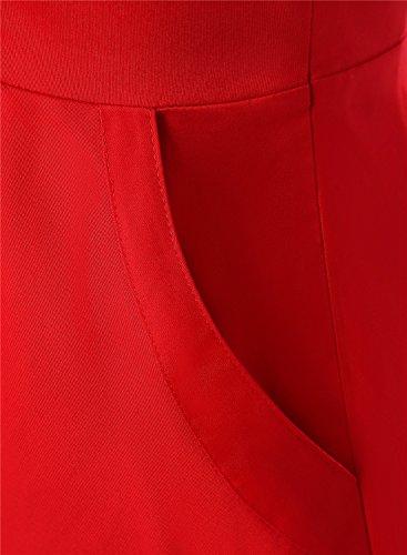 Dressystar Robe Classique Vintage 50S, 60S Robe Swing à col en cœur, à mancherons unicolore avec poches Taille de S à 4XL Bleu Saphir