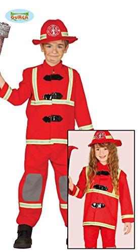 Feuerwehr Kostüm für Kinder Feuerwehrmann Feuerwehrkostüm Gr. 98 - 146, Größe:110/116
