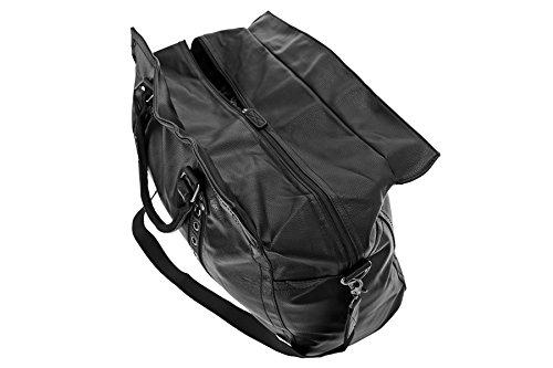 Reisetasche, Pilotentasche, XXL, Schultertasche, Umhängetasche, Handtasche allrounder Reisetasche Sporttasche Reisegepäck Tasche Weekender (Schwarz) Schwarz