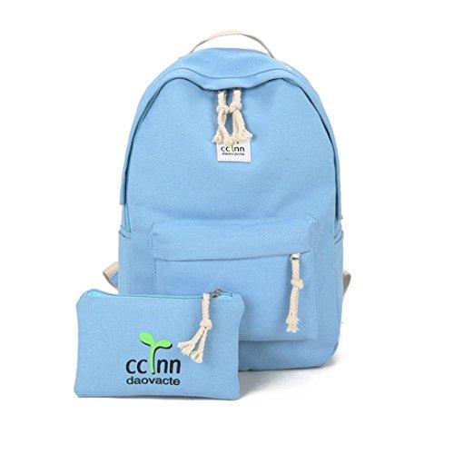 Rucksack, Voberry Jungen Mädchen Schulter Bookbags Schultasche Satchel Travel Canvas Rucksack Blau