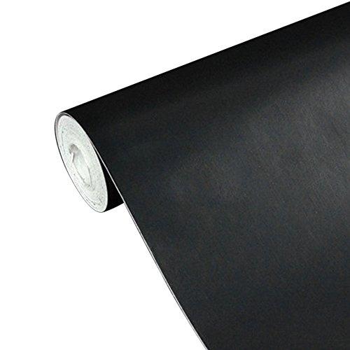 UNIQUEBELLA Papier Peint Auto-Adhésif 45cmx10M Noir Stickers Autocollant Muraux Décoration pour Chambre Salon Meuble
