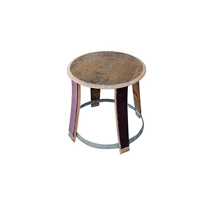 Beistelltisch Wohnzimmertisch Kleiner Tisch Aus Weinfass Hhe Ca 57cm Durchmesser Oben Ca 55cm