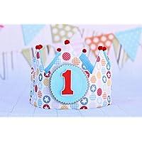 Corona de tela para cumpleaños, corona bebé unisex, regalo de cumpleaños, adorno de fiesta