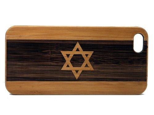 iMakeTheCase Schutzhülle für iPhone 6S oder iPhone 6, umweltfreundliches Bambus-Holz, Jüdisches Schild, Hanukkah-Geschenk