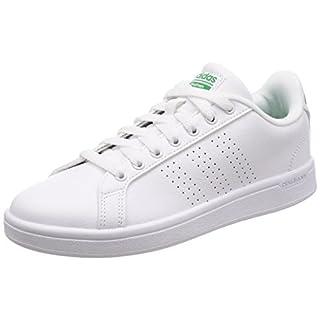 adidas Herren Cloudfoam Advantage Sneaker, Weiß (Ftwwht/ftwwht/Green), 44 2/3 EU