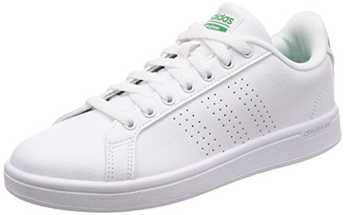 adidas Herren Cloudfoam Advantage Clean Sneaker Weiß (Ftwwht/ftwwht/green)