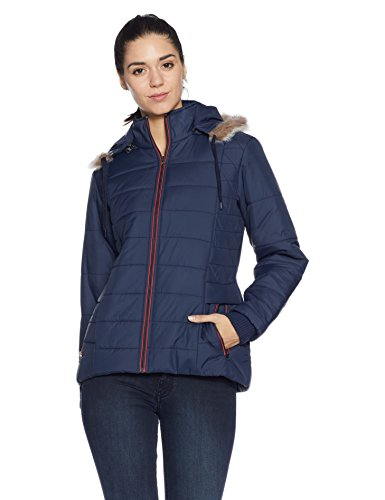 Qube By Fort Collins Women's Cape Jacket (57402_Navy_M)