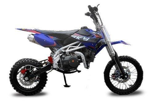 125cc-SKY-DIRTBIKE-mit-UpsidDown-Gabel-Blau