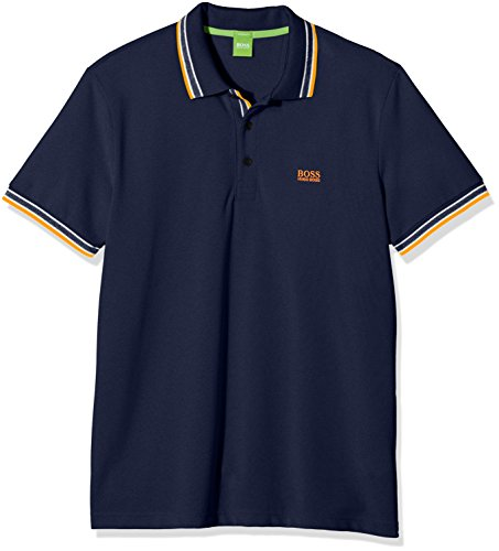 BOSS Green Herren Poloshirt 50302557, Blau (Open Blue 487), Medium