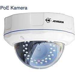 JVS-N3DL-DC-PoE / Jovision IP Dome Kamera, Power over Ethernet (PoE), Indoor und Outdoor, 1 MegaPixel, HD, 720P, Überwachungskamera, Netzwerkkamera, Bewegungserkennung, Email Alarm, Spritzwasser und staubgeschützt (IP66), Schutz vor Vandalismus, Objektiv Richtung manuell verstellbar