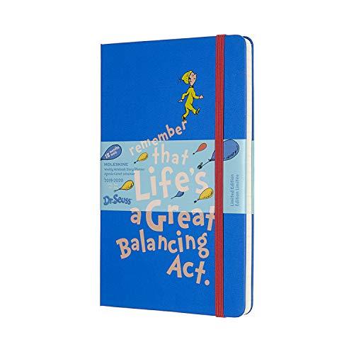 Moleskine, Agenda Settimanale 18 Mesi Dr. Seuss, Edizione Limitata, Blu, Diario Accademico 2019/2020 con Copertina Rigida, Chiusura ad Elastico, Dimensione Large 13 x 21 cm, 208 Pagine