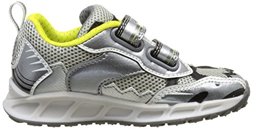 Geox Jungen J Shuttle Boy B Low-Top Grau (grey/limec0666)