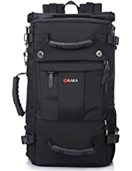 Gran capacidad multifuncional impermeable pr¨¢ctica de grandes dimensiones bolsa de alpinismo, mochila de viaje , black