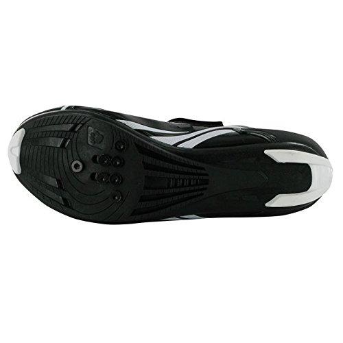 Muddyfox Mens TRI100 Cycling Shoes Breathable Cycle Bike Sport New Black/White UK 9
