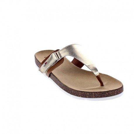 Tommy Hilfiger Sussex EN56820907 /Gold 765 Sandale Zehentrenner , Size:41 -