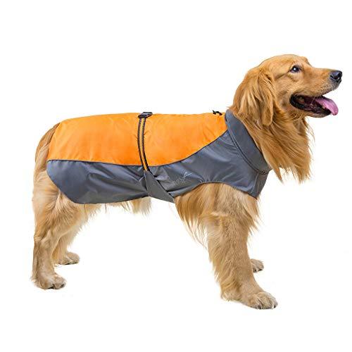 Yowablo Reflektierende wasserdichte Haustier-Mantel-Winter-Regenmantel-Hunde für kleinen mittleren großen Hund (S,Gelb)