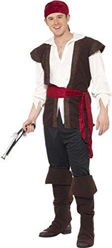 para-hombre-adultos-pirata-look-wear-fancy-disfraz-vestido-de-fiesta-negro