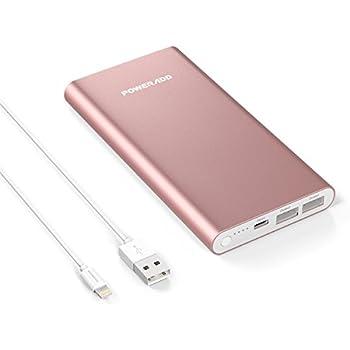 POWERADD Pilot 4GS 12000mAh Batterie Externe Portable Grande Capacité avec Deux USB (3A+3A) Charge Rapide pour Iphone 6/6plus, Iphone7/7plus, Ipad, Galaxy S6 etc et livré avec Un Cble Lightning