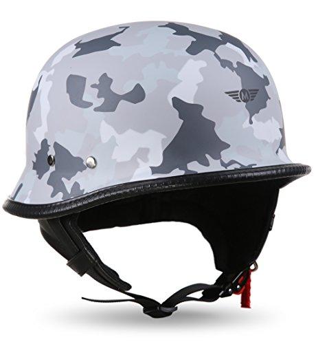 MOTO HELMETS® D33 Army Snow - Casco semi-integrale per scooter e scooter, taglia XL (61-62 cm)