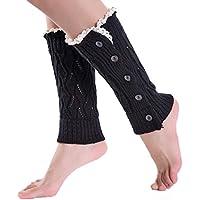 Malloom® chica invierno botón Calcetines cortos calentadores de la pierna cubierta de arranque