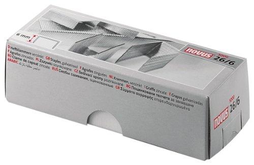 Novus Heftklammer für Bürogeräte mit einer Schenkellänge von 6 mm