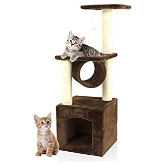 COZY PET Deluxe Multi Level Cat Tree Scratcher Activity Centre Scratching Post Toys with Heavy Duty Sisal Cat Trees in… 6
