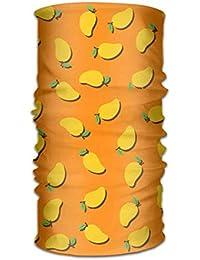 Nynelsong Unisex Men Women Fashion Fresh Mango Fruit Versatile Bandana Headband Outdoor Daily Yoga Magic Headwear