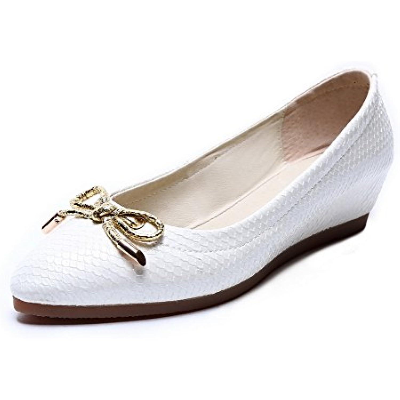 AllhqFashion Femme Couleur Couleur Couleur Unie Tire Pointu Chaussures Légeres - B06XX8JR3Y - 5d414b