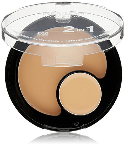 Revlon Colorstay 2 in 1 Compact Makeup and Concealer 11g Nude #200