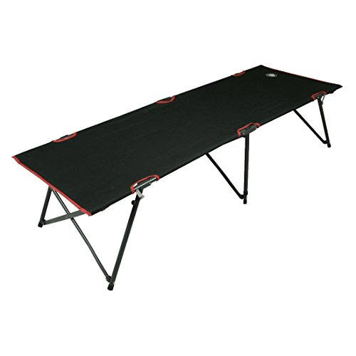 10T Outdoor Equipment 10T COT190 Camping Cuna, Unisex, Negro, Estándar