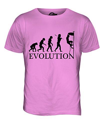 CandyMix Klettern Felsklettern Evolution Des Menschen Herren T Shirt Rosa