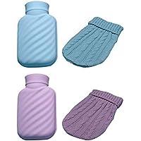 cuckoo-X Wärmflasche mit Überzug aus Silikon, Wärmflasche mit Strickbezug, klein, bruchsicher, sicher und langlebig... preisvergleich bei billige-tabletten.eu