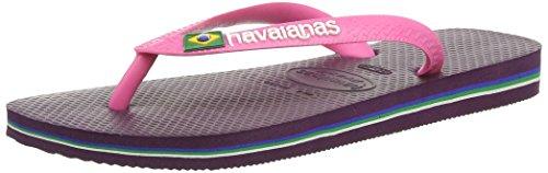 Havaianas Unisex-Erwachsene Brasil Logo Zehentrenner Violett (3445 Dark Violet)