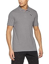 Puma Ess Pique Camiseta Polo, Hombre, Gris, M