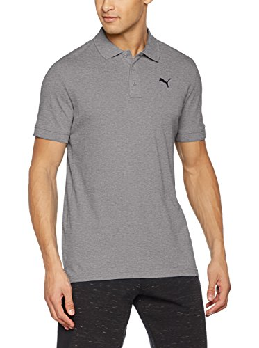 Puma Herren Ess Pique Polo Shirt - grau (Medium Gray Heather) , S -