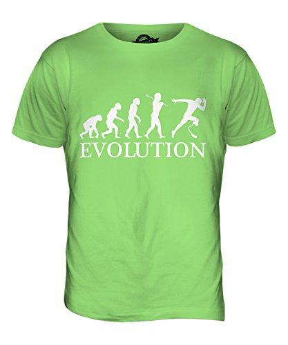 CandyMix Sprint Paralimpico Evoluzione Umana T-Shirt da Uomo Maglietta Verde Lime